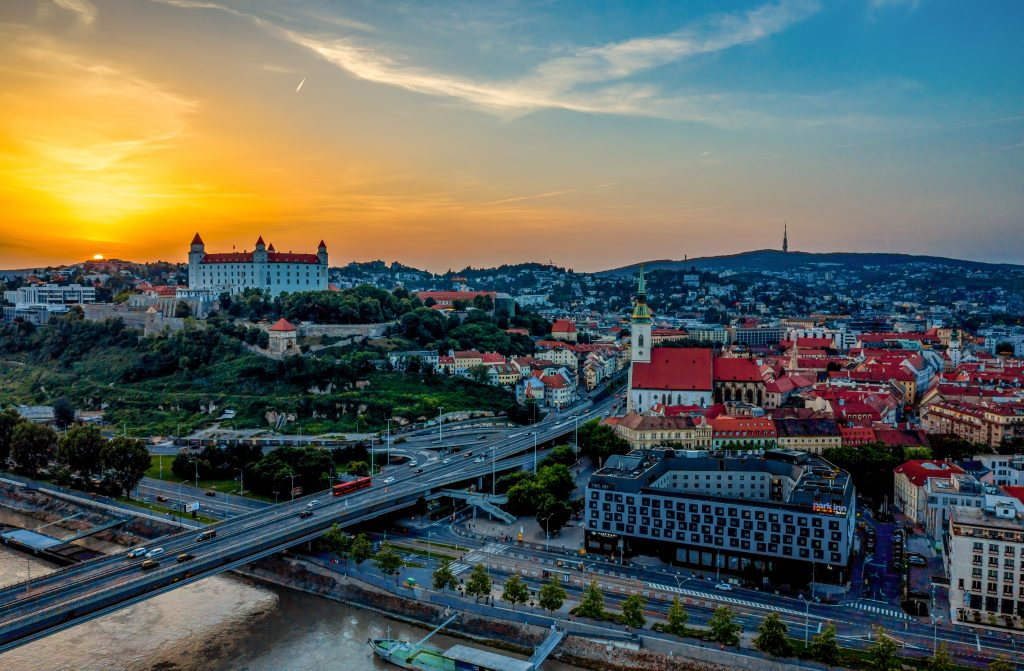 Letecký záber z dronu, Bratislava